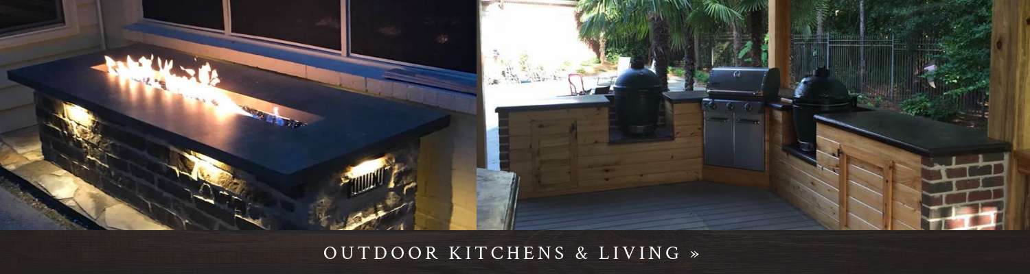 Click here to see our outdoor kitchen and living spaces!