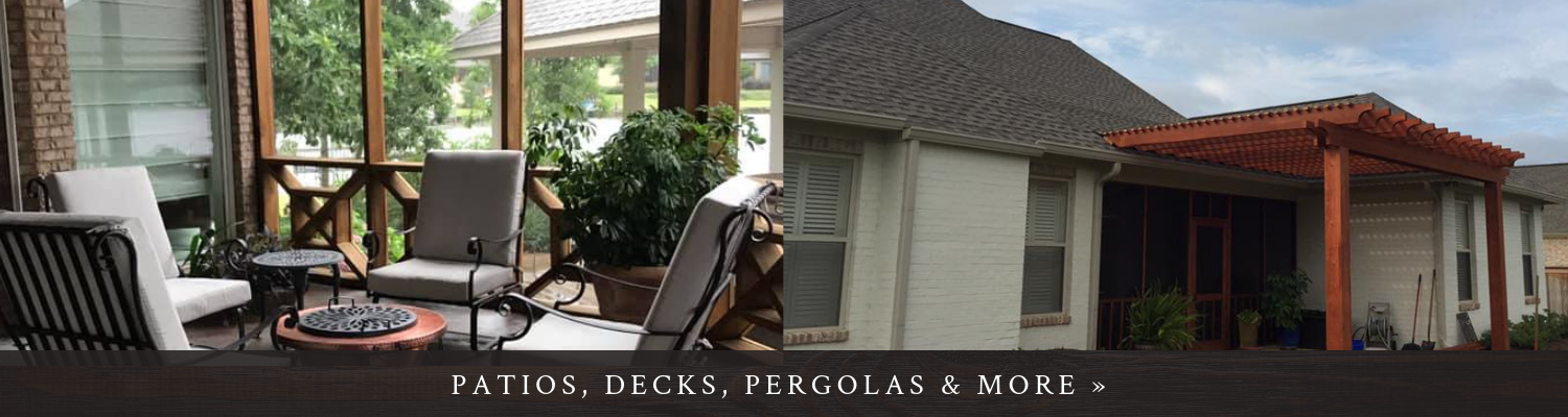 Click here to see photos of decks, pergolas, patios and more!